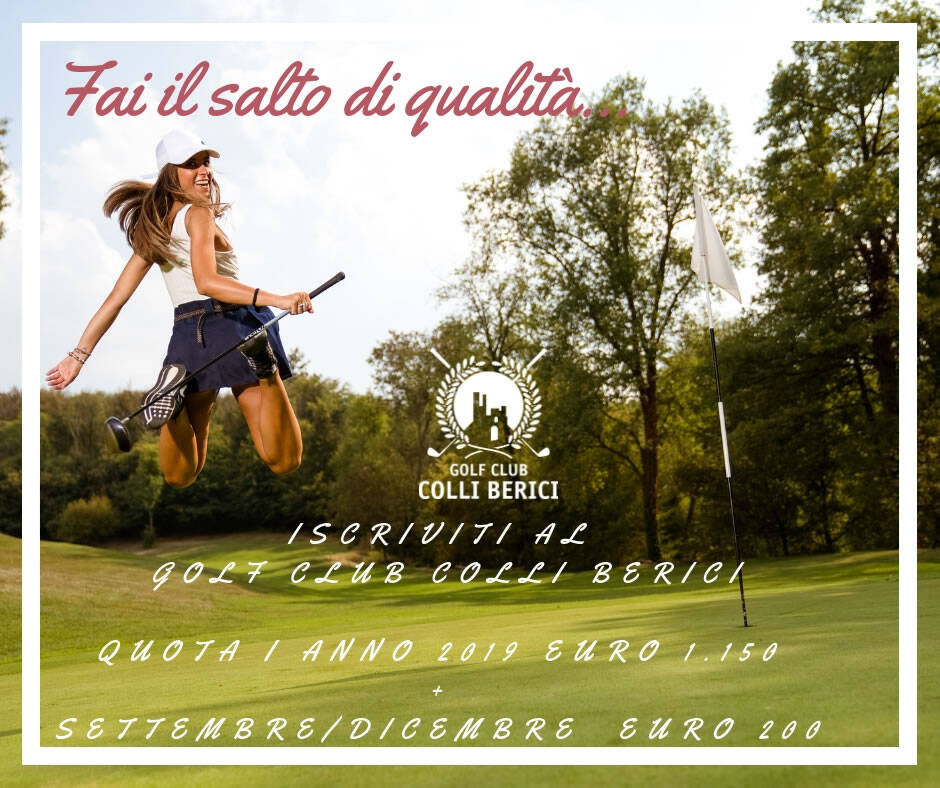 fai-il-salto-di-qualita RADER CUP 2018 BY G.C. COLLI BERICI - C/O GC della MONTECCHIA GREEN FEE + GARA E 45,00 - Golf Club Colli Berici