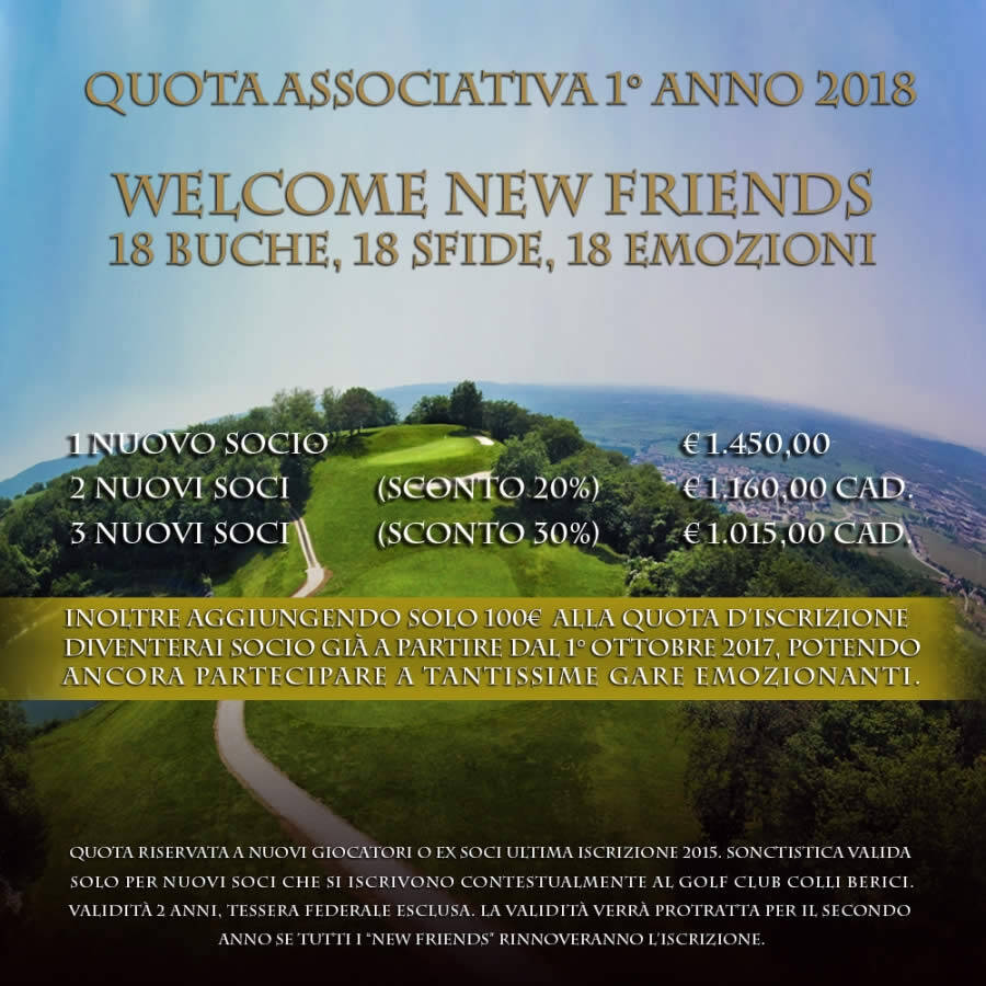 WELCOME NEW FRIENDS 2018